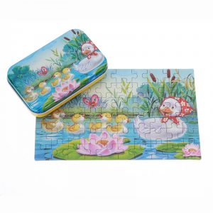 60st DIY Pussel Duck Fairy Tale biltoon 3D Jigsaw Med Tenn låda barns barnren Pedagogiska Present Collection Toy