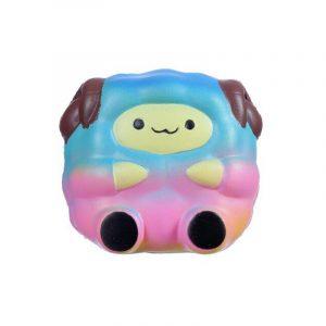 Jumbo Sheep Squishy Gullig Galaxy Rainbow Soft Alpaca Slow Rising Scented Toy Present