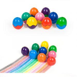 Fast äggkritik Slumpmässig färgkritong Barn Ej Presentig Ritpenn Toy