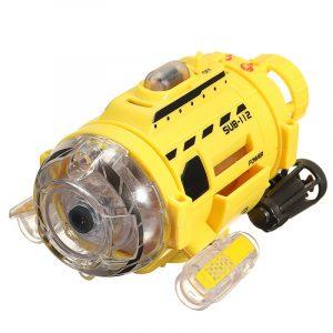 Silverlit fjärrkontroll Infraröd RC-ubåt med 0.3MP kamera och ljusmatning Fiskleksanjen för barn