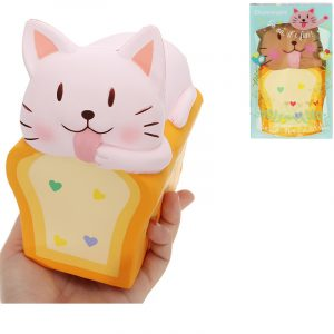 Chummypie Toast Cat Squishy 14cm långsammare med Packaging Collection Present Soft Toy