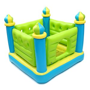132cm * 132cm * 107cm Uppblåsbara Leksaker Bouncy House Castle Kommersiell Barn Familj Inomhus Utomhus Toy