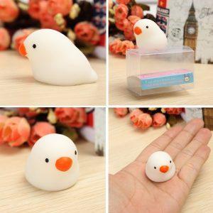 Fettduva Squishy Squeeze Söt Healing Toy Kawaii Collection Stress Reliever Present Decor