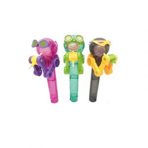 Lollipop Storage Robot Creative Novelties Leksaker 8 * 8 * 2CM Pink Grey Green