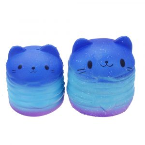 Hamburger Cat Squishy 9,8 * 8CM / 11 * 10CM Långsam Rising Collection Present Soft Toy