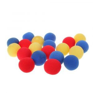 10st Yellow Close Up Magic Street Trick Mjuk Svamp Ball Props Clown Nose
