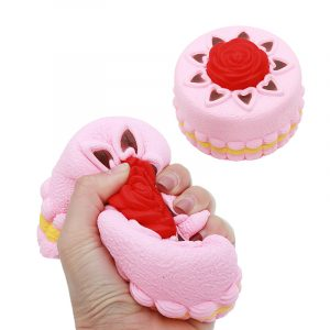 Squishy Rose Cake 12cm Novelty Stress Squeeze Långsam Rising Squeeze Collection Cure Toy Present