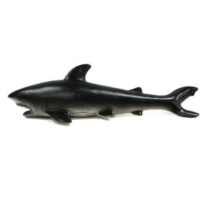 30cm Great White Shark Realistic Gummi Sea DjurFigur Toy Dyscast Modell