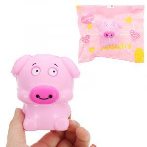 biltoon Pig Squishy 8cm långsammare mjuka samling gåva dekor leksak hängande