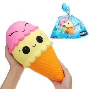 11.8inch 30 * 15cm Stor Squishy Ice Cream Cone Långsam Rising Med Packaging Collection Present Soft Toy