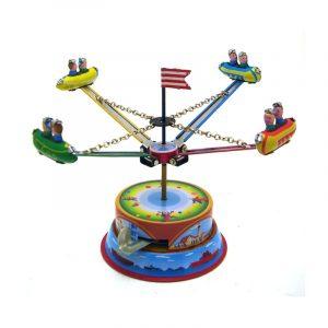 Classic Vintage Clockwork Nöjespark Nostalgisk Wind Up Barn barns Tin Leksaker With Key