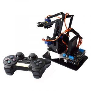Akryl fjärrkontroll Robot Arm 4DOF Med Arduino PS2 RC Robot Leksaker