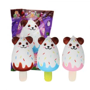 Sanqi Elan Bear Popsicle Ice-lolly Squishy 12 * 5,5 cm Licensierad Slow Rising Soft Toy med förpackning