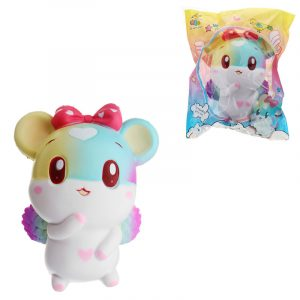 Taburasaa Mouse Squishy 12,5 * 15cm långsammare med Packaging Collection Present Soft Toy