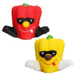 8cm Squishy Pimento Chili Unicorn Långsam Rising Pepper Squishy barns Toy Present Collection