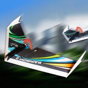 DW HOBBY uppgraderad Rainbow Ⅱ 1000mm Wingspan EPP Flying Wing Radiostyrda Flygplan KIT