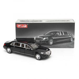 1:24 S600 Limousine Diecast Metal bil Modell 20,5 x 7,5 x 5cm bil i ruta svart