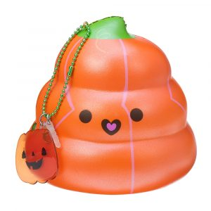 Puni Maru 14cm Squishy Pumpkin Poop Super Långsam Rising Toy Tag Present