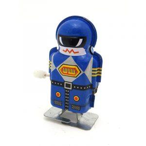 Klassiker Vintage Clockwork Wind Up Magic Boy Robot Reminiscence Barn Barn Tennleksaker