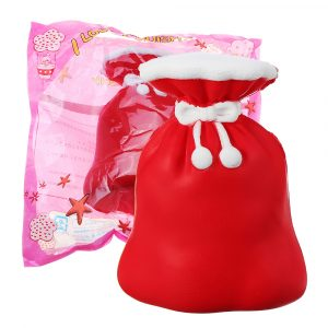 Squishy Julklapp Bag 12CM Purse Jumbo Långsam Rising Soft Leksaker Collection med förpackning