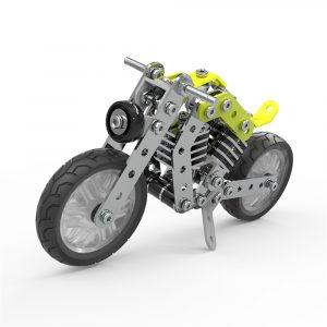 MoFun 3D Metal Pussel Modell Byggnad Rostfritt Stål Harley Motorcykel 158st