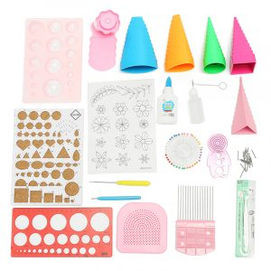 Quilling DIY Papper Art Craft Tool Full Kit Quilling Work Board Mould Grid Guide Tool