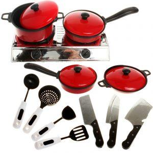 13 st köksartiklar leksakshus köksdisplay leksaker kökspottor pannor maträtt barn köksartiklar
