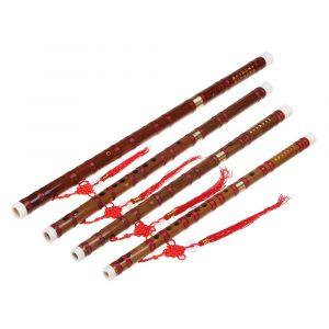 Kinesisk Bamboo Woodwind Flöjt C E F G Key Professionella musikinstrument