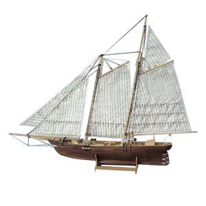 1: 120 Skala Trä Trä Segelbåt Ship Kit 3D Pussel Modell Byggnad Dekor Båt Gåva Leksaker