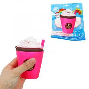 Mjölk-iscocken Cup Squishy 11CM långsammare med förpackning av kaffe Cappuccino Collection Present