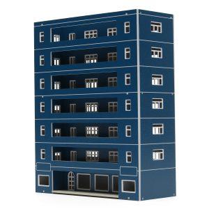 Blue Plastic Apartment Classroom Scenery Layout Modellleksaker för GUNDAM  Bygga