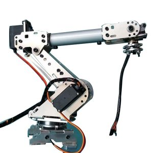 KDX DIY 6DOF Aluminium Robot Arm 6 Axelrotationsmekanisk Robot Arm Kit med 6 st Servo