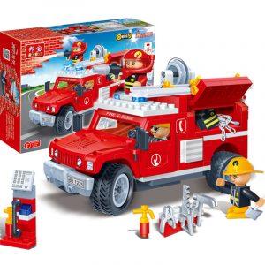 Brandbekämpnings Lastbil 242: e Block Bygga Pedagogiska Tegelstenar Leksaker (Kompatibel med Lego)