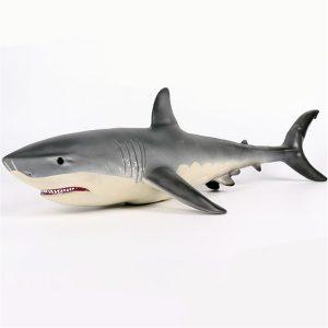19 tum Stor Storlek Megalodon Stor Vit Shark Toy Dyscast Modell Figur Toy Present
