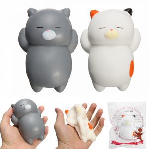 SquishyShop Sleeping Lazy Cat Soft Squishy långsammare med Packaging Collection Present Decor Toy