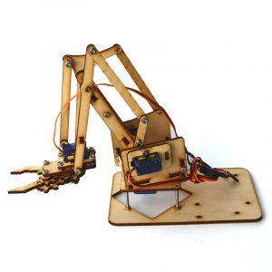 4DOF träarm mekanisk robotarmsats med SG90 servo för Arduino