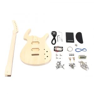 DIY Oavslutade 6 String Electric Bass Guitar Kit Basswood Body med Maple Neck