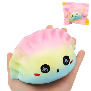 Galaxy Dumplings Squishy 12 * 7 * 7cm långsammare med Packaging Collection Present Soft Toy