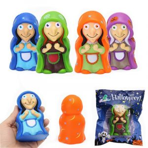 Kameleon Squishy Witch Docka 12cm Halloween Decor Långsam Rising Med Packaging Collection Present Toy