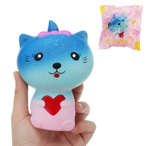 Galaxy Cat Squishy 13 * 9 * 7cm långsammare med Packaging Collection Present Soft Toy
