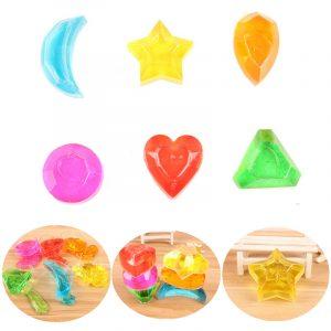 6st Crystal Slime Diamond Star Heart Moon Simulerad Mud Jelly Plasticine Stress Relief Present Toy