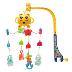 Baby Plaything Song Baby Crib Bed Bell Mobil barn Toy Electric Musical Fun Bekväm Sötleksaker