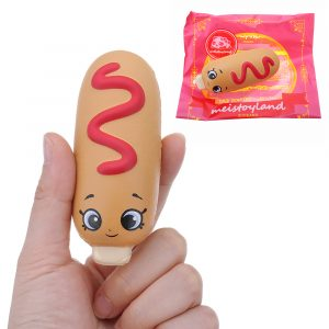 Hot Dog Squishy 8CM långsammare med Packaging Collection Present Soft Toy