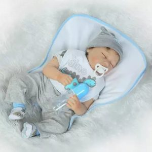 NPK 22inch Reborn Baby Docka 100% handgjorda Lifelike Full Body Full Silicone Action Figurleksaker