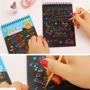 Rolig pussel DIY Doodling Scrapbook Måleri Bok Barn Barn Leksaker