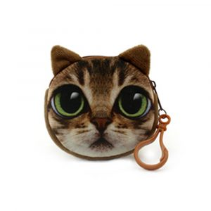 Söt djurkatt fylld plysch leksak handväska kedja duk leksak gåva samling