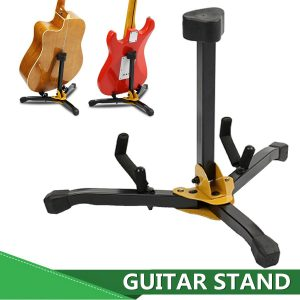 Folding Metal Guitar Floor Stand Basses Hållare Musikinstrument Rack For One