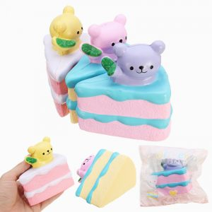 Oriker Squishy Bear Cake 9.5cm Mjuk Sweet Slow Rising 12s  Collection Present Inredning