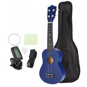 21 tums ekonomisk sopran Ukulele Uke musikinstrument med gig bag Strings Tuner Blue