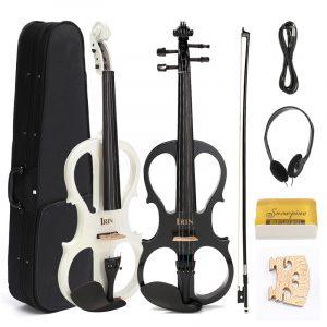 4/4 elektrisk violin med hörlurar Gig Bag Bow Cable för nybörjare